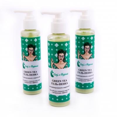 """""""GREEN TEA"""" Гель-Пенка для комбинированной и жирной кожи . Для глубокого очищения кожи лица с матирующим эффектом."""